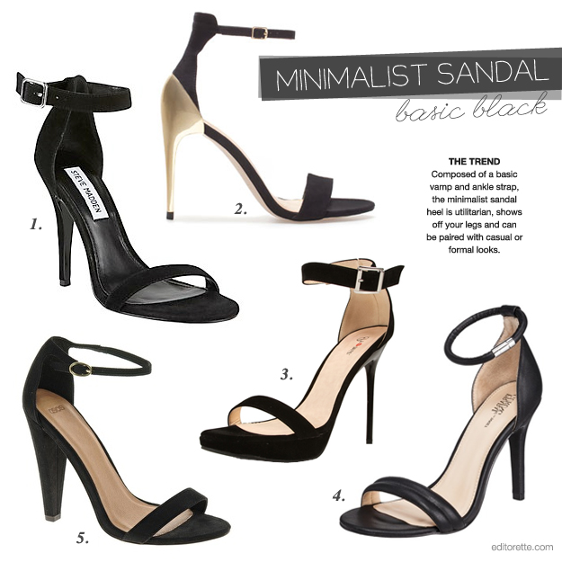Black Minimalist Sandal Heel photo