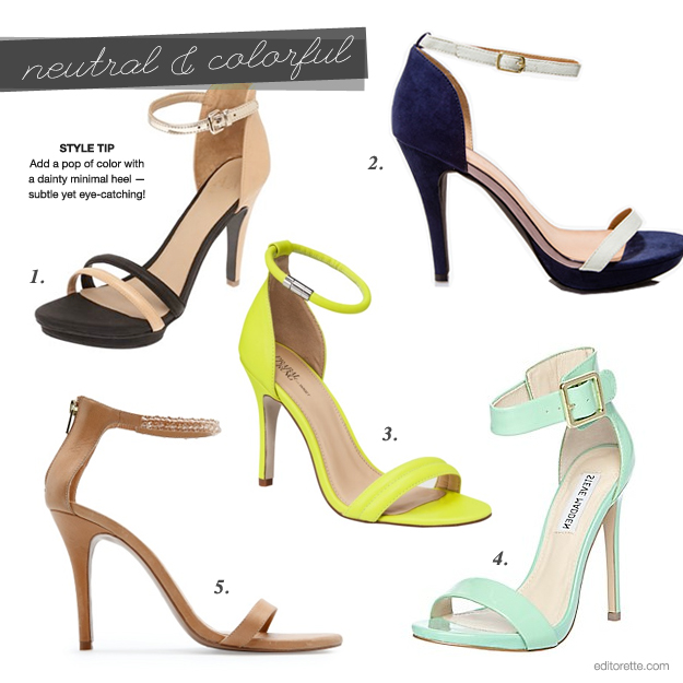 Minimalist Sandal Heel Neutral Colored photo