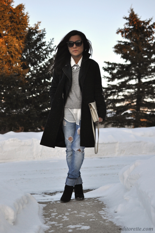Outfit of the Day Zara Jeans Aritzia Coat