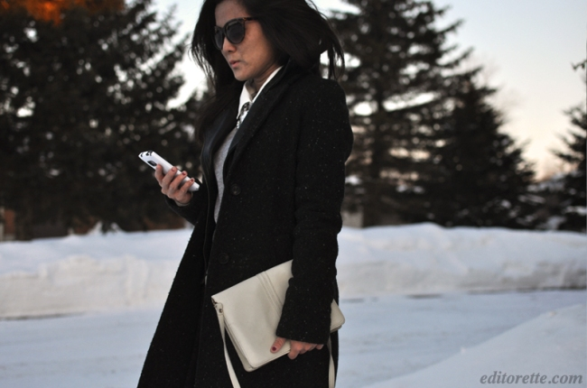 Outfit of the Day Boyfriend Grey Coat